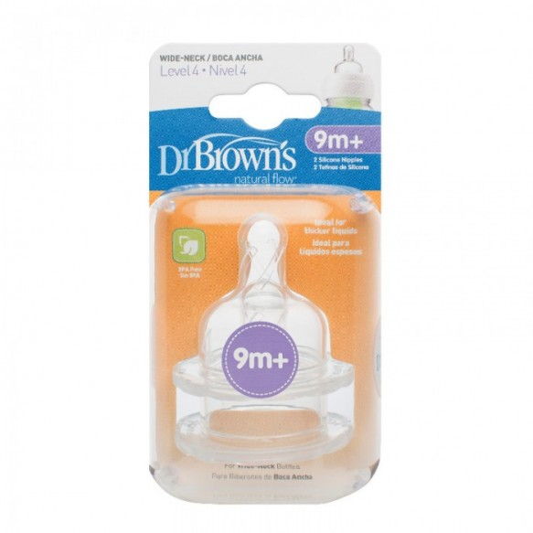 """Smoczki do butelki """"Dr Brown's"""" Szeroka szyjka poziom: 4, +9 miesięcy"""