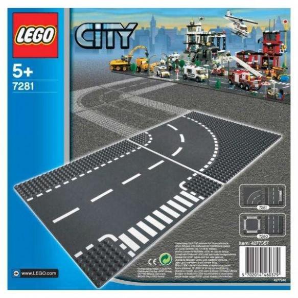 LEGO CITY 7281 Płytka Skrzyżowanie i zakręt