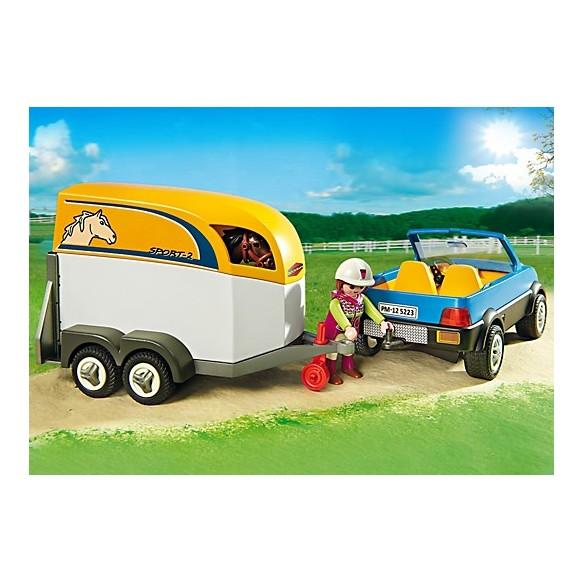 Playmobil 5223 Samochód z przyczepą dla konia