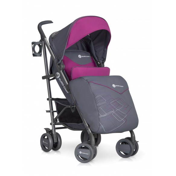 CROSSLINE Euro-Cart lekki wózek spacerowy 8,5kg,fushsia