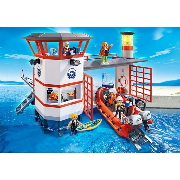 Playmobil 5539 Kwatera straży przybrzeżnej z latarnią