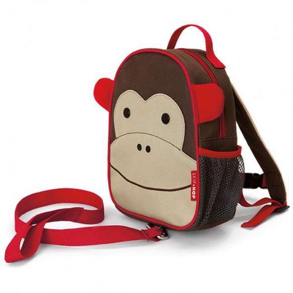 SKIP HOP Plecak ze smyczą Baby Zoo Małpa