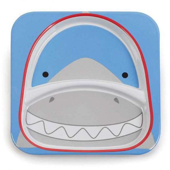 SKIP HOP Talerz dla dziecka Zoo Rekin