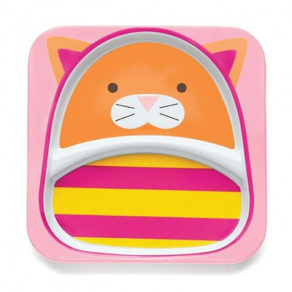 SKIP HOP Talerz dla dziecka Zoo Kot