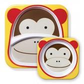 SKIP HOP Miseczka i talerzyk Zoo Małpa