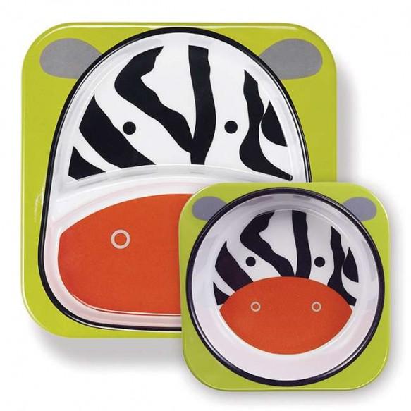 SKIP HOP Miseczka i talerzyk Zoo Zebra