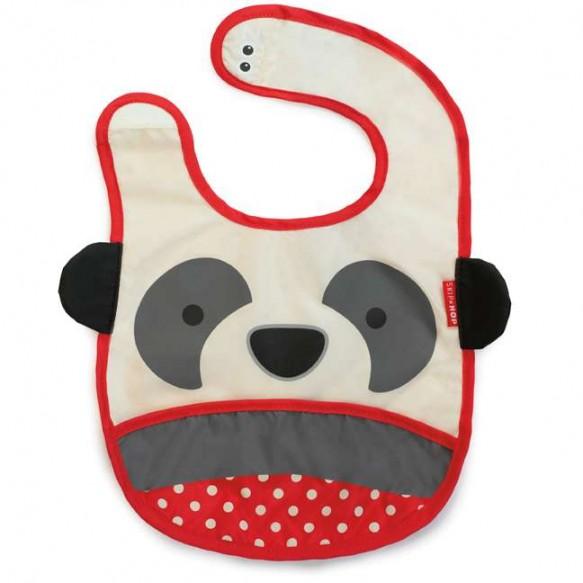SKIP HOP Śliniak na rzep z kieszonką Zoo Panda
