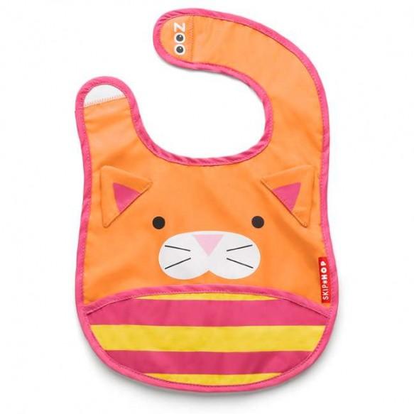 SKIP HOP Śliniak na rzep z kieszonką Zoo Kot