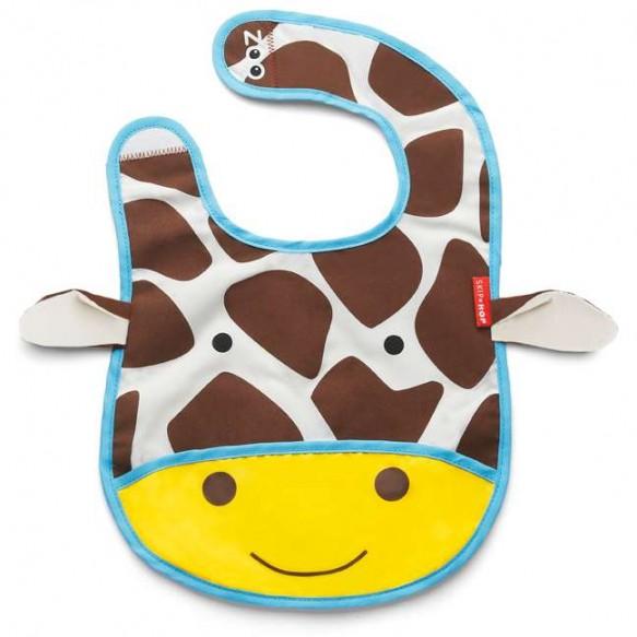 SKIP HOP Śliniak na rzep z kieszonką Zoo Żyrafa