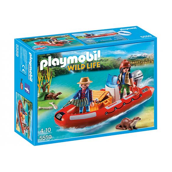 PLAYMOBIL 5559 Łódź pontonowa z kłusownikami 2016