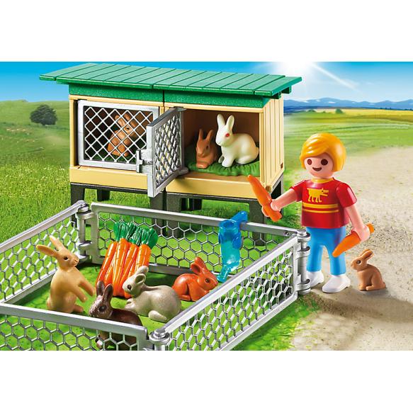 PLAYMOBIL 6140 Stajnia dla królików z wolnym wybiegiem 2016