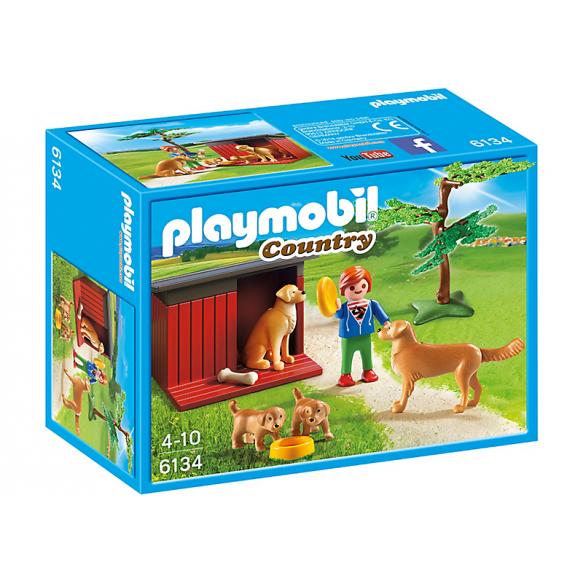 PLAYMOBIL 6134 Labrador z szczeniakami 2016