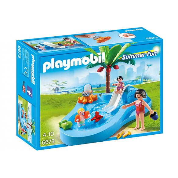 PLAYMOBIL 6673 Dzieciecy basenik ze zjeżdzalnią