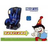 Fotelik samochodowy SPARCO F500K 0-18kg niebieski