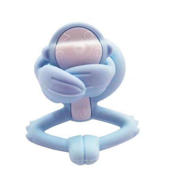 Mombella Gryzak Zabawka Małpka Light Blue