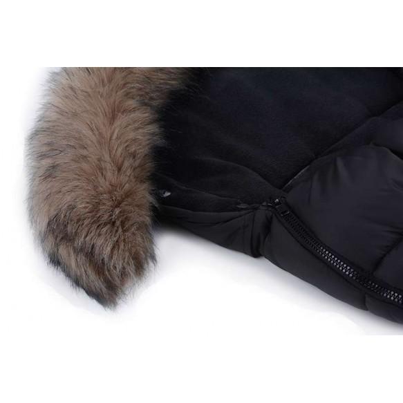 cottonmoose Śpiwór zimowy - Moose granat - szary