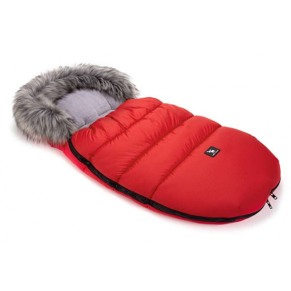 cottonmoose Śpiwór zimowy - Moose czerwony - szary -nowy
