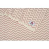 kocyk bawełniany zygzag Le Pampuch różowy