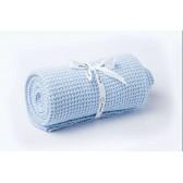 Le Pampuch kocyk dziany bawełniany baby blue