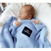 Bambusowy koc 80x100 Baby blue / Lullalove
