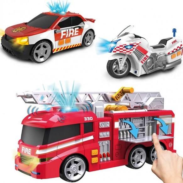 DUMEL flota miejska pojazdy strażackie 3-pack