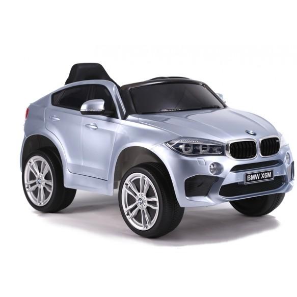 Auto na Akumulator BMW X6 Srebrny Lakierowany Skóra, EVA