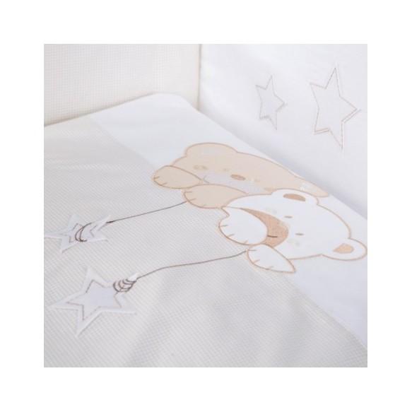 Pościel 3-el haftowana Albero Mio by Klupś - Misiowe Sny H185 beżowe