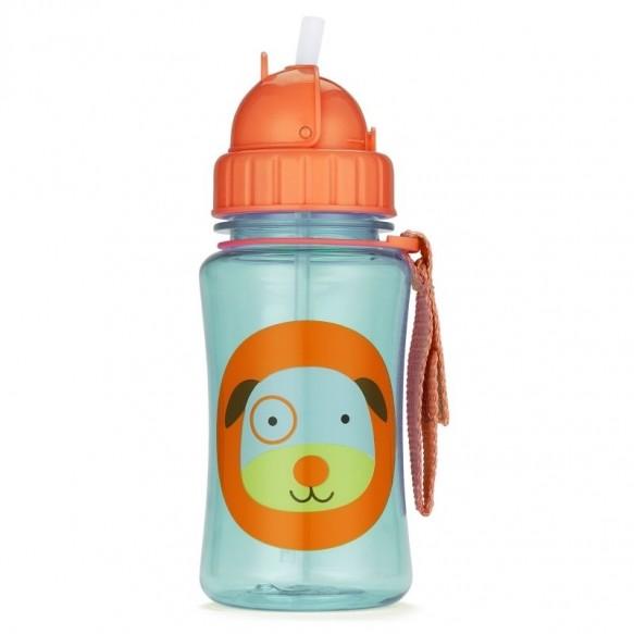 SKIP HOP Bidon ze słomką dla dzieci Zoo Pies