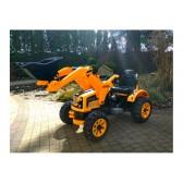 Koparka Ładowarka Traktor na Akumulator z Ruchomą Łyżką