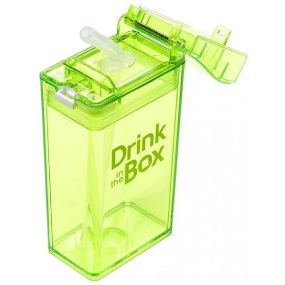 DRINK IN THE BOX Bidon ze słomką green 240ml