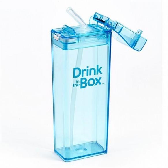 DRINK IN THE BOX Bidon ze słomką blue 350ml