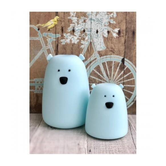 rabbit & friends - Lampka miś mały - niebieski