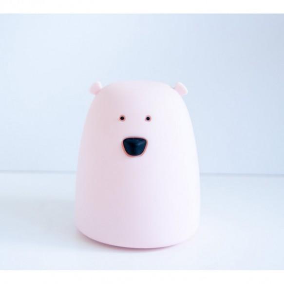 Rabbit&Friends - Lampka miś mały - różowy