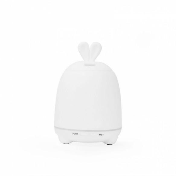 rabbit & friends - lampka i dyfuzor 2w1 królik biały