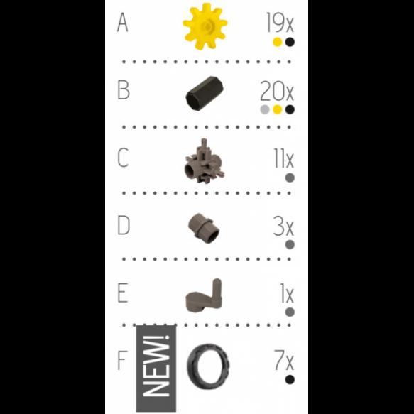 KORBO Klocki Machine, 61 elementów