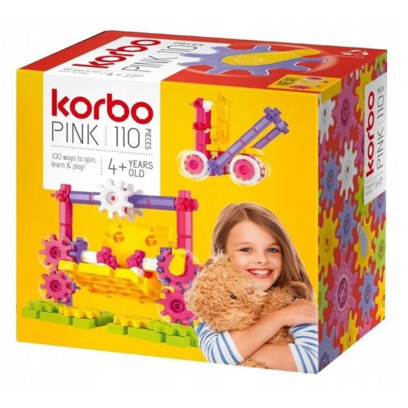 KORBO Klocki Pink, 110 elementów