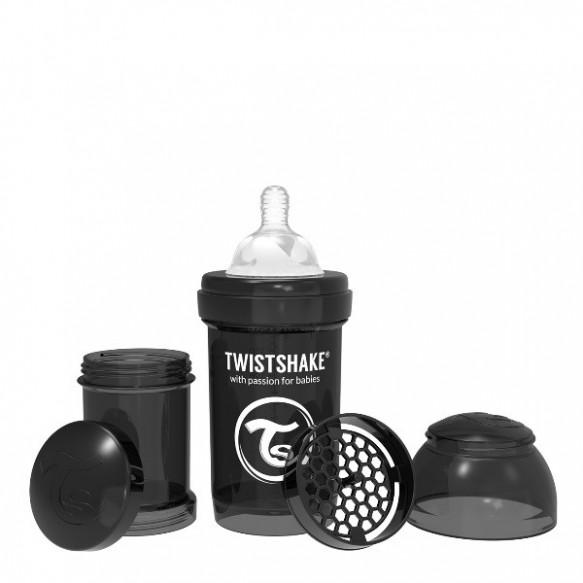 Twistshake Butelka antykolkowa 180 ml, czarna