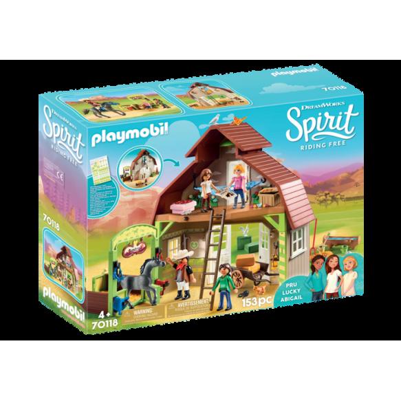 Playmobil 70118Boks stajenny z Lucky, Pru i Abigail