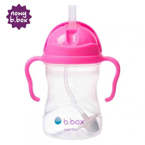 *NOWY* innowacyjny bidon ze słomką b.box różowy granat