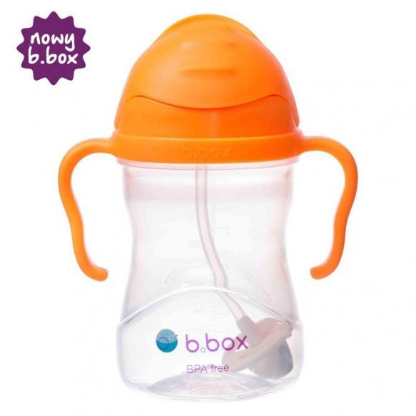 NOWY* innowacyjny bidon ze słomką b.box pomarańczowy