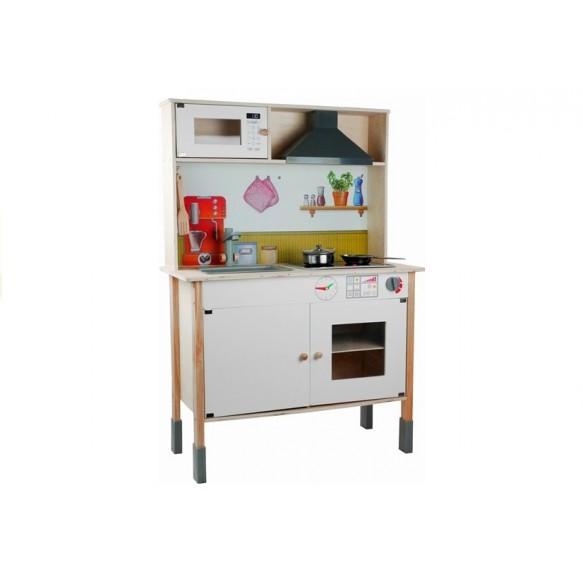 Kuchnia Drewniana Dla Dzieci Meggie Biała z akcesoriami