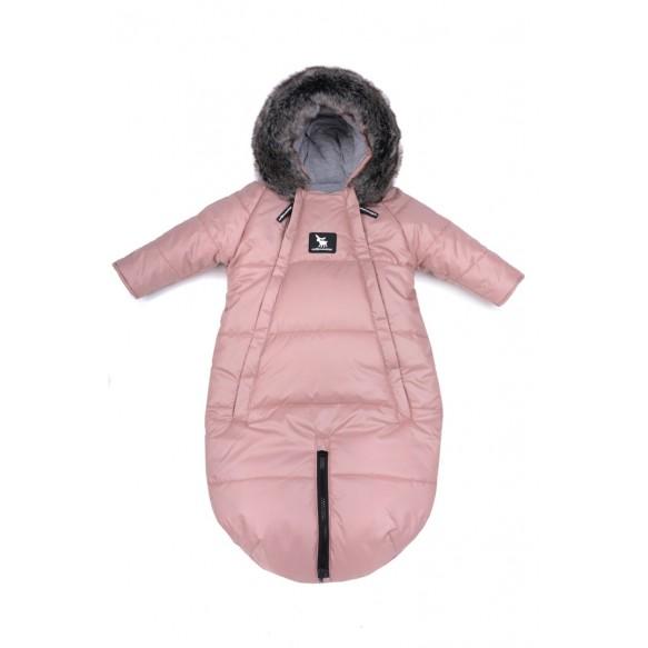 cottonmoose Kombinezony Moose 2w1 dla dzieci 0-6 miesięcy szary