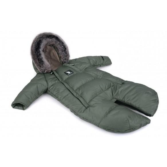 cottonmoose Kombinezony Moose 2w1 dla dzieci 0-6 miesięcy -jungle-green