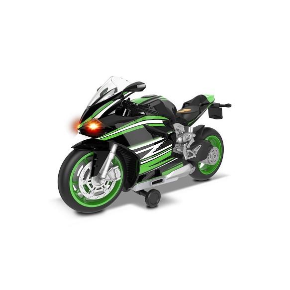 Dumel Odjazdowa Flota Miejska Sportowy motocykl zielony